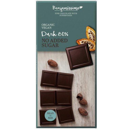 Tmavá čokoláda bez cukru