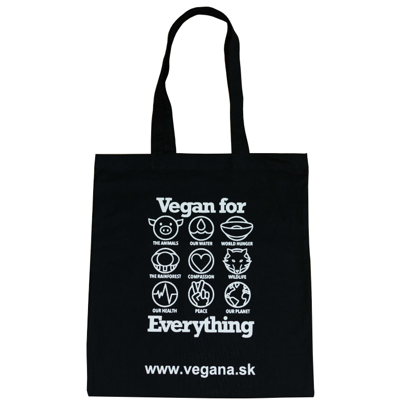 Taška Vegan for Everything - čierna
