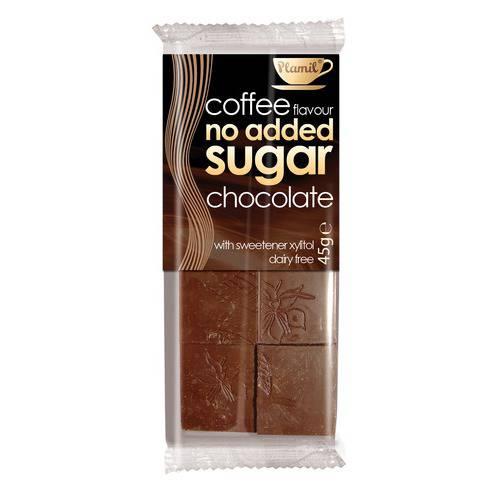 Čokoláda bez cukru kávová