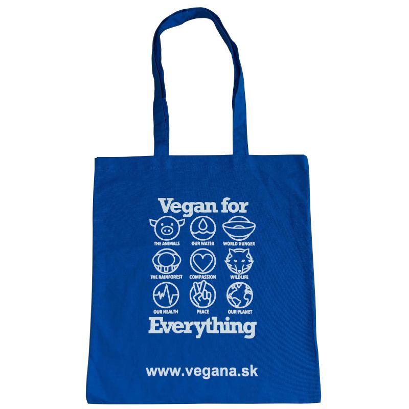 Taška Vegan for Everything - modrá