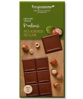 Nugátová čokoláda bez cukru