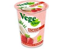 Kokosový jogurt jahoda